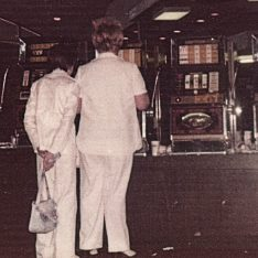 Mother and daughter at slot machines